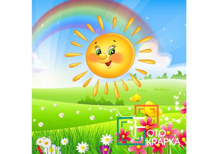 Фотозона для детского сада Украина солнце