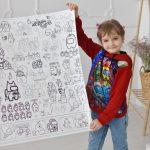 Амонг ас гигантская раскраска Украина для мальчиков и девочек