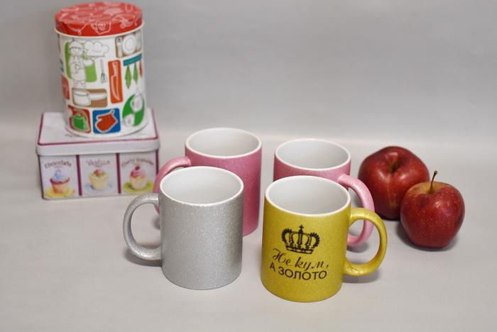 чашка на заказ глиттер Украина