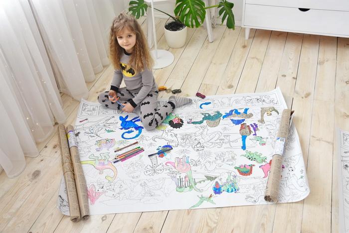 Динозавры гигантская раскраска Днепр