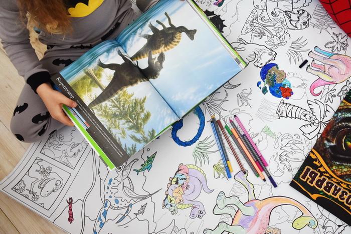 Динозавры гигантская раскраска Кривой Рог