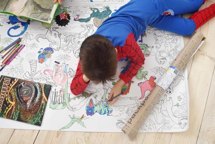 Динозавры гигантская раскраска Одесса