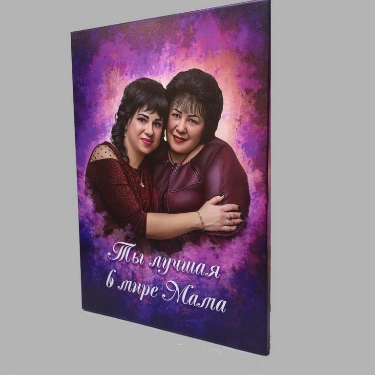 дрим-арт на холсте двойной портрет