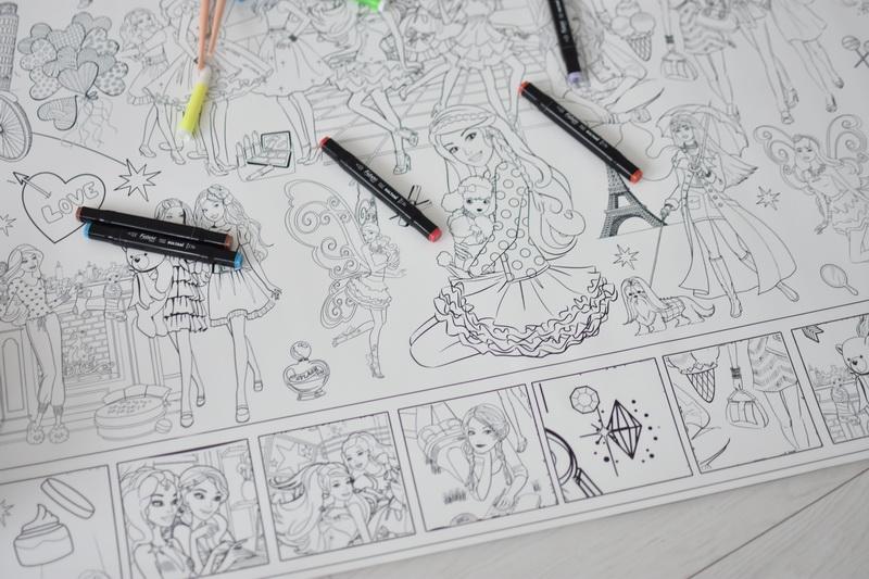 Огромная раскраска Барби Днепр