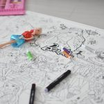 Огромная раскраска Барби грн гигантская