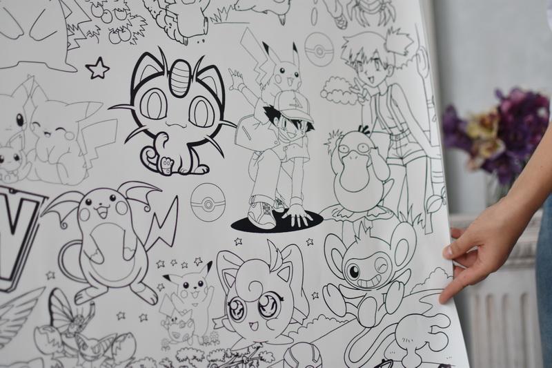 Огромная раскраска покемон Недорого