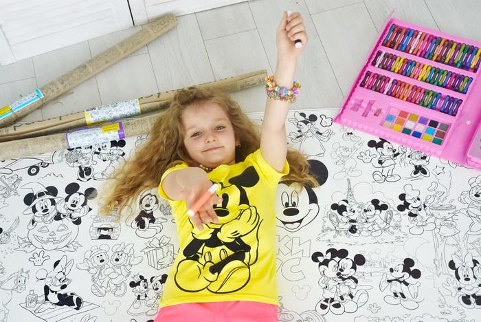 Гигантская раскраска Микки Маус для детей Украина