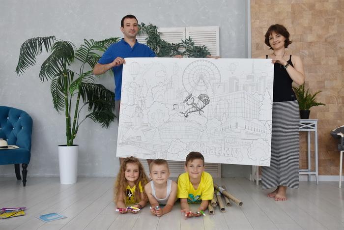 Гигантская раскраска для детей виды Харькова