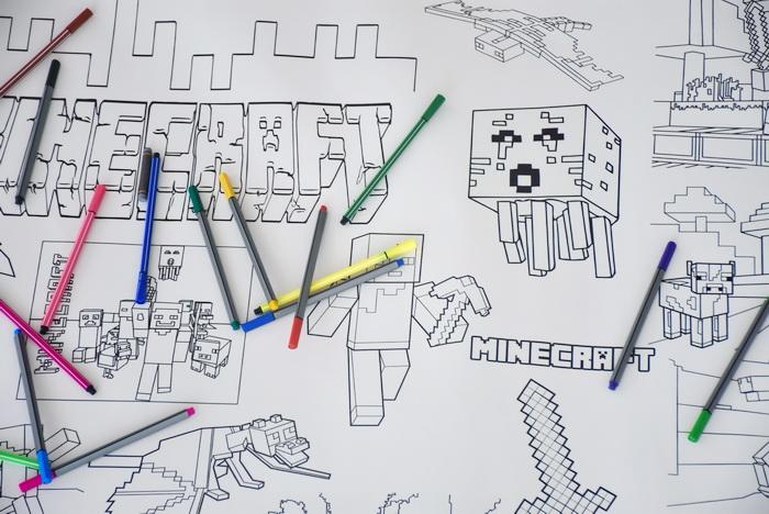 Майнкрафт гигантская раскраска Кривой Рог