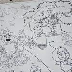 Маша и медведь гигантская раскраска Украина