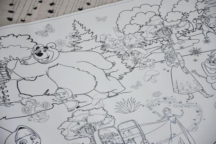 Маша и медведь макси раскраска