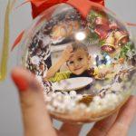 Новогодние шарики с фото 2021 дети