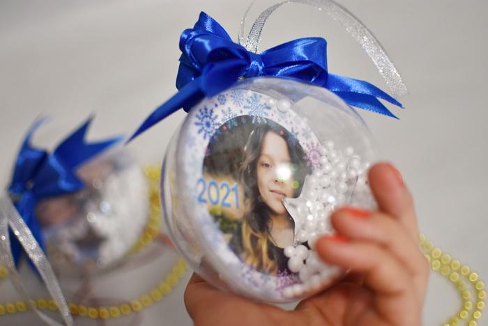 Новогодние шарики с фото недорого грн