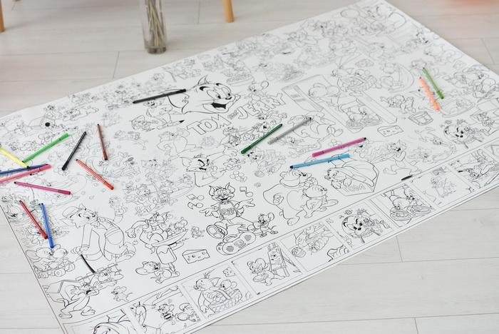 Огромная раскраска Том и Джерри купить для детей