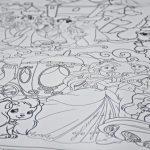 Принцессы огромная раскраска Киев