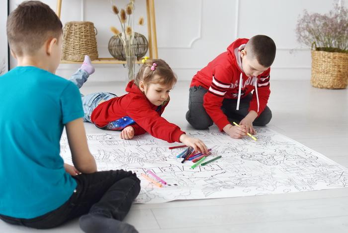 Роблокс гигантская раскраска дети рисуют