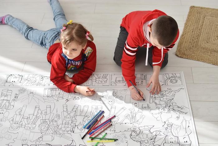 Роблокс гигантская раскраска для детей Украина