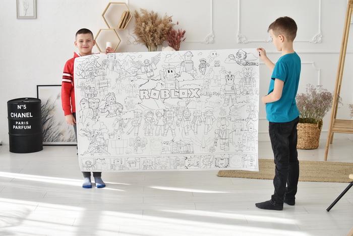 Роблокс гигантская раскраска для мальчиков грн