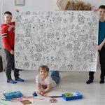 Щенячий патруль гигантская раскраска для детских садов
