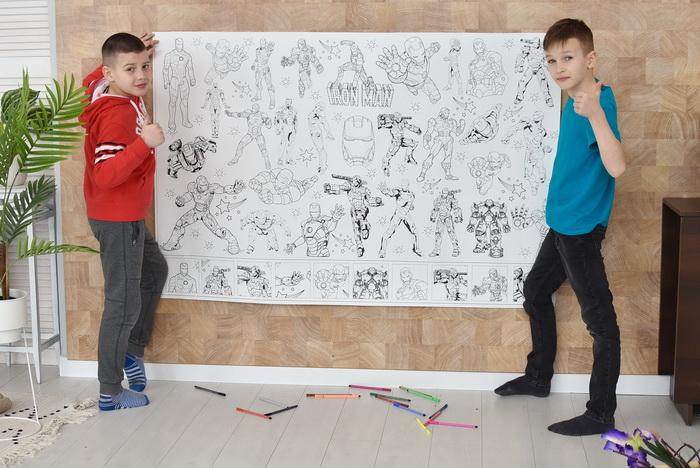 Железный человек гигантская раскраска для мальчиков Украина