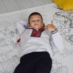 Большая раскраска Украина вышиванка