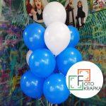 голубые с белым шарики Харьков