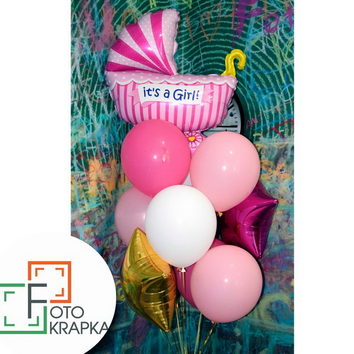 Харьков шарик на выписку девочке