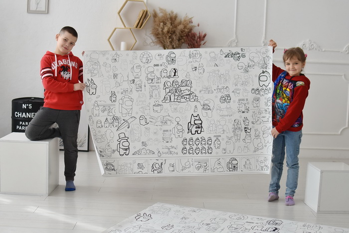 Амонг ас розмальовка велика Вінниця