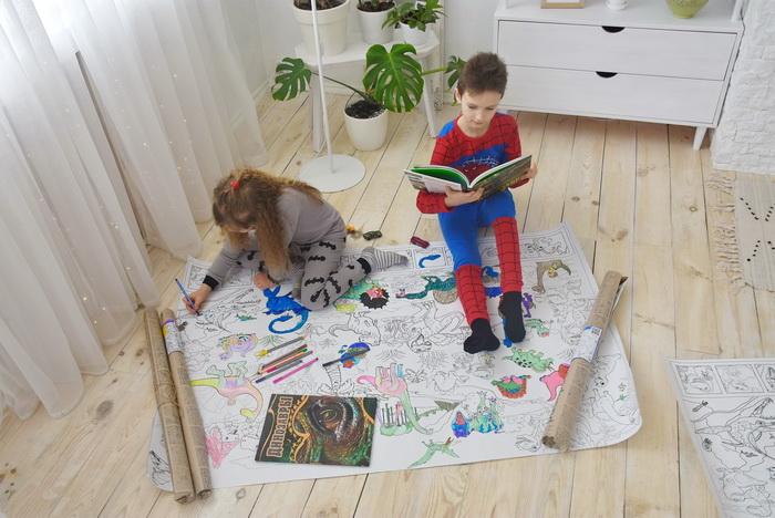 Динозаври гігантські розмальовки купити