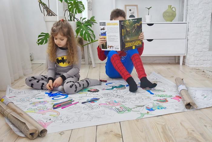 Динозаври гігантські розмальовки Харків