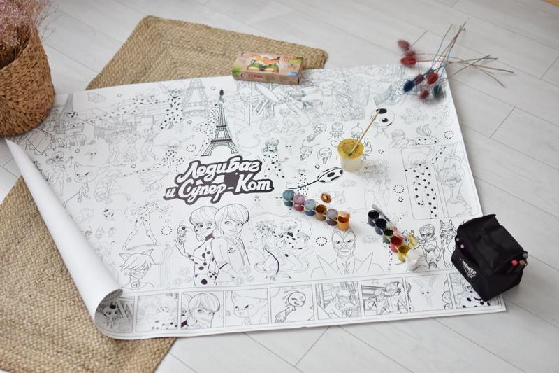 Велика гігантська розмальовка Леді Баг