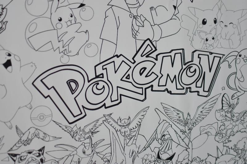 Велика гігантська розмальовка Pokemon грн