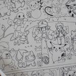 Велика гігантська розмальовка Покемон гігант