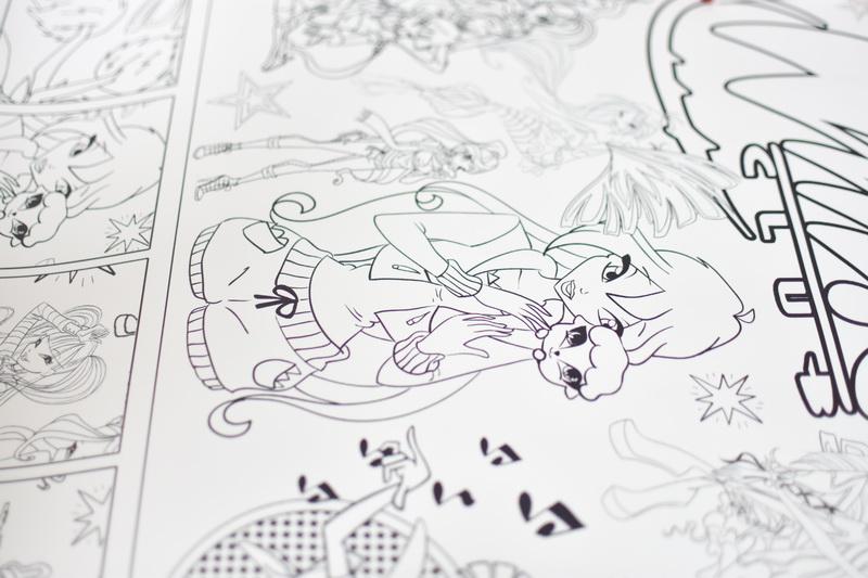 Велика гігантська розмальовка Феї Вінкс для дівчат