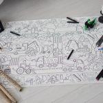 Велика гігантська розмальовка транспорт будівельний