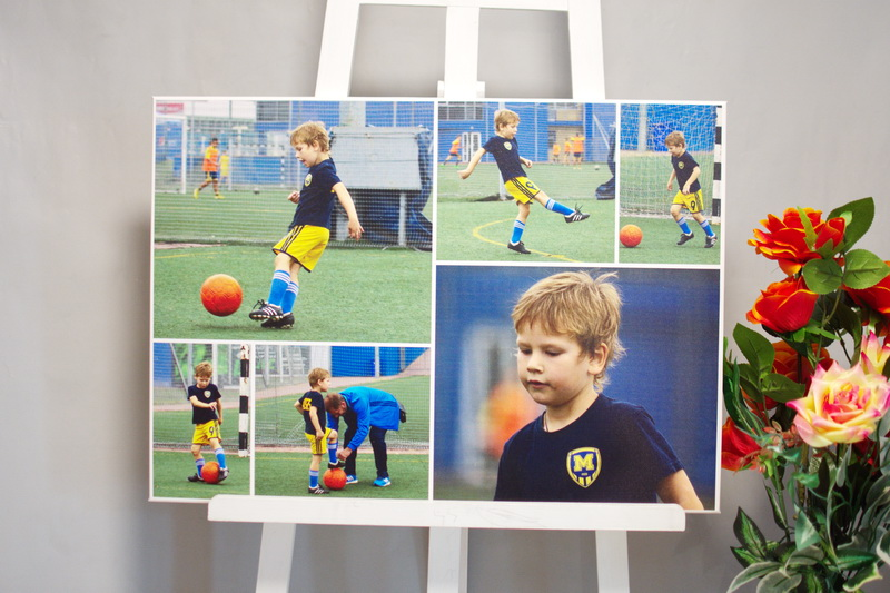 Коллаж Україна холст футбол