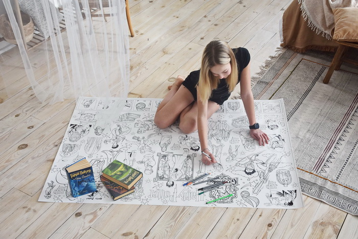 Гаррі Поттер розмальовка гігантська для підлітків