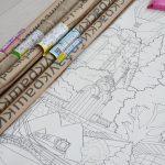 Велитенська розмальовка про Харків архітектура