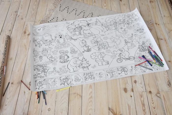 Маша та ведмідь розмальовка велика гігантська Київ