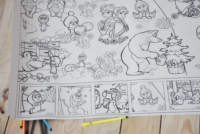 Маша та ведмідь розмальовка велика гігантська Харків