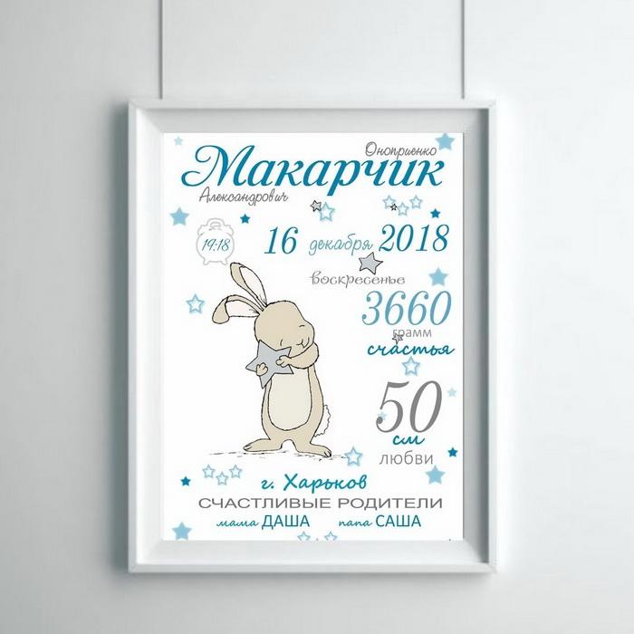Метрика малыша кролик