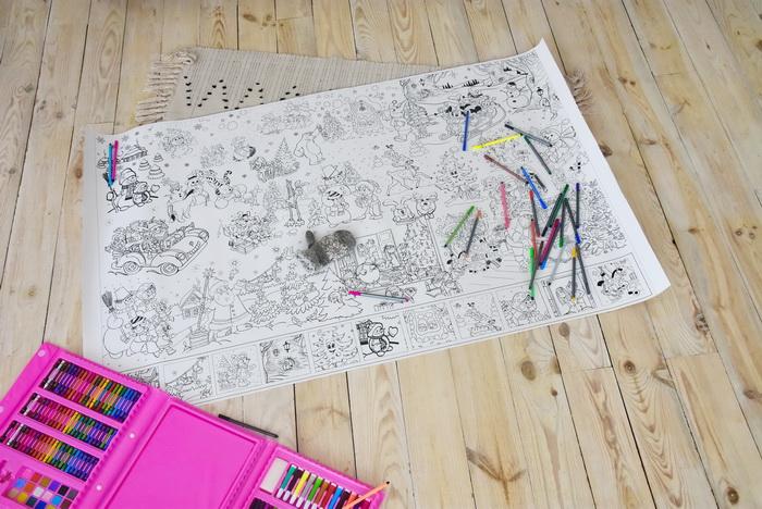 Новорічна розмальовка для дітей велика
