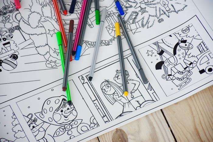 Новорічна розмальовка для дітей грн.