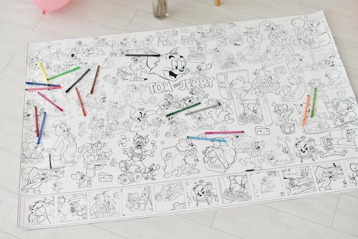 Гігантська розмальовка Том та Джеррі
