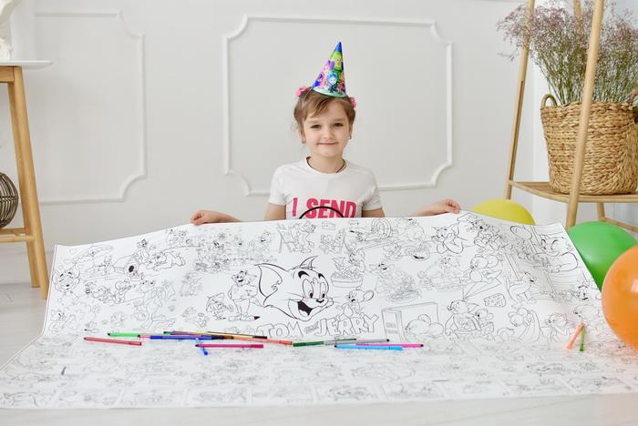 Гігантська розмальовка Том та Джеррі на подарунок