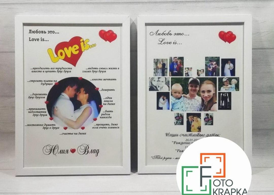 Постери Love is на замовлення Україна
