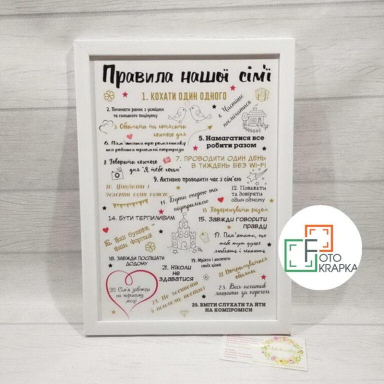 Постер правила родини Львів