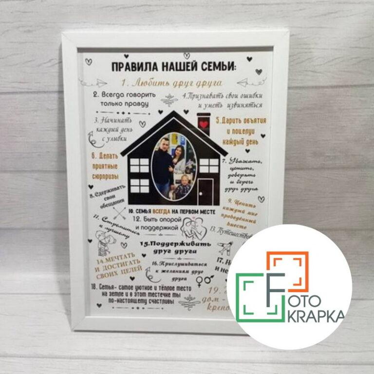 Постер правила дому, правила родини