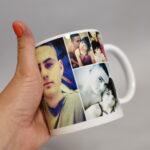 колаж із фото на чашці