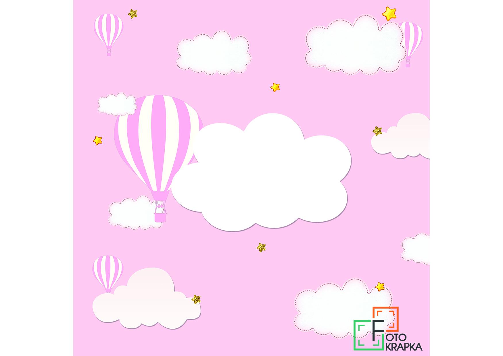фотозона воздушные шары розовые